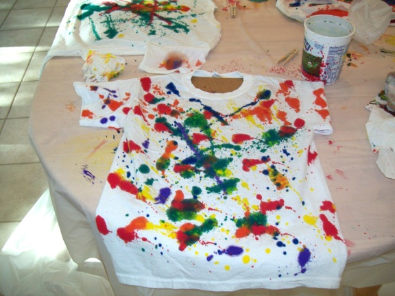 Spray On Painted T-Shirt