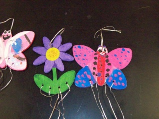 Painted Wooden Wind Chimes